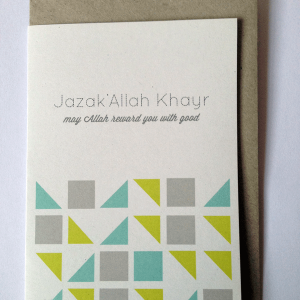 JazakAllah Khai Greeting Card