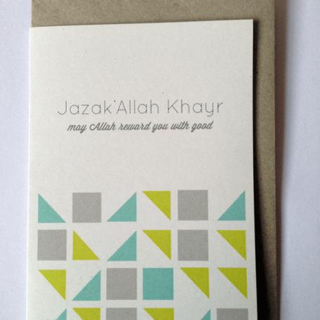 JazakAllah Khai Greeting Card