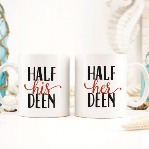 Half His and Her Deen Mugs