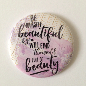Pocket Mirror Be Yourself Beautiful
