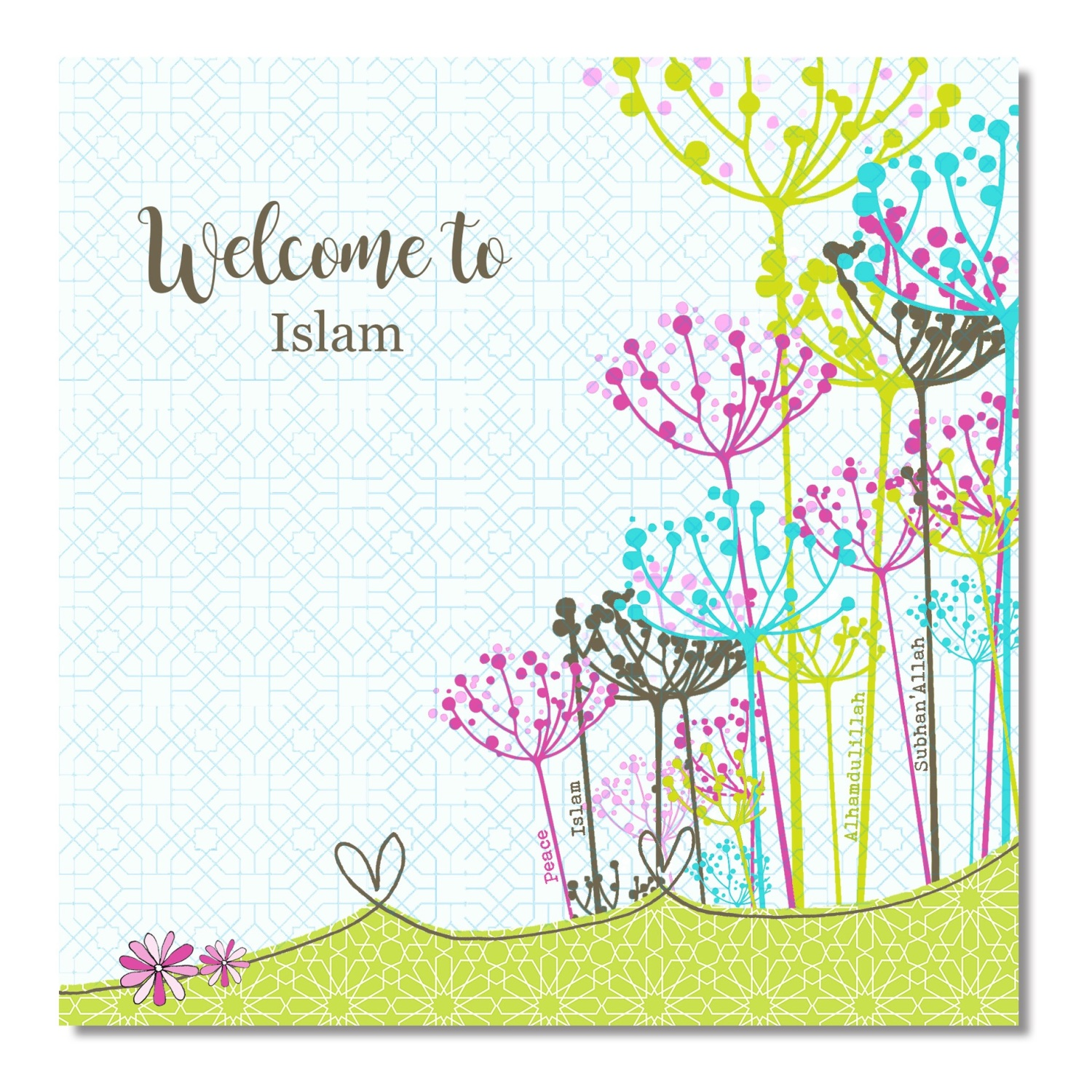 Welcome to islam card islamic pearls welcome to islam card kristyandbryce Image collections