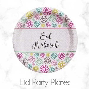 Eid Mubarak Paper Plates