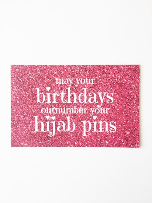 Hijab Pins Birthday Greeting Card