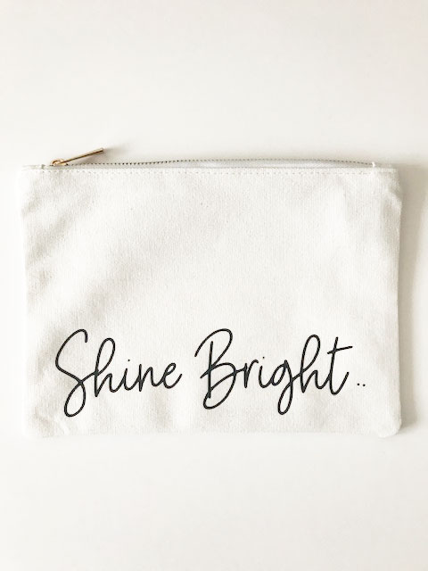 Shine Bright Make Up Bag and Pouch