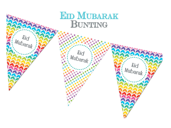 2020 Eid Mubarak Bunting Flags
