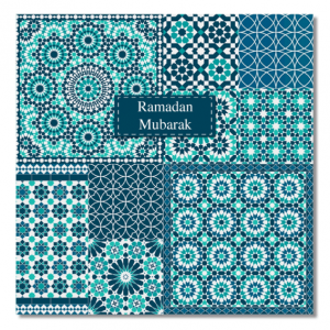 Ramadan Mubarak Zellige Greeting Card