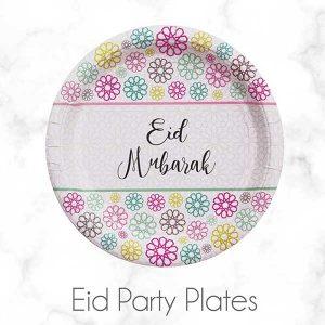 Eid Mubarak Disposable Paper Plates