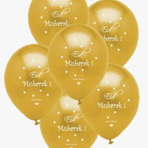 Eid Mubarak Balloons Gold