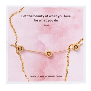Rose Gold Bracelet With Flowers